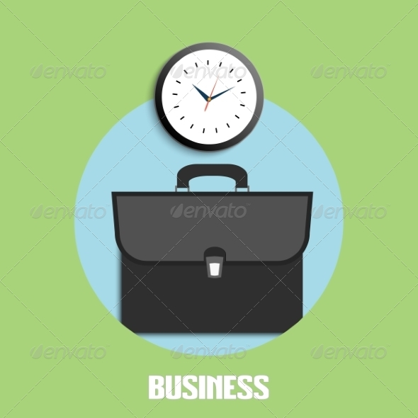 Briefcase and Clock
