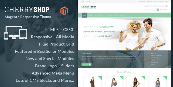Cherry Shop - Magento Responsive Theme