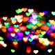 abstract christmas color lights background - hearts - PhotoDune Item for Sale