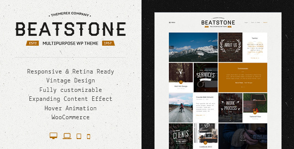 ThemeForest BeatStone Creative PSD Theme 7826631