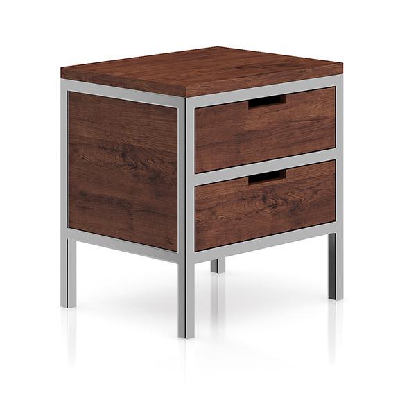 3DOcean Wooden Bedside Cabinet with Metal Frame 8266489