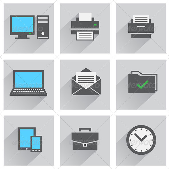 GraphicRiver Office Icon Set 8266494