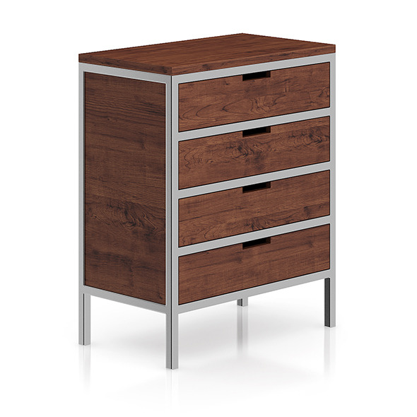 3DOcean Wooden Cabinet with Metal Frame 8266500