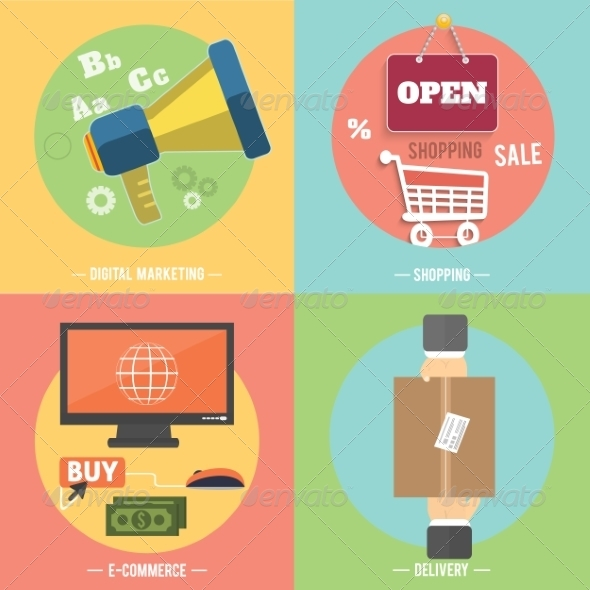 GraphicRiver Icons for Ecommerce Delivery Online Shopping 8266729