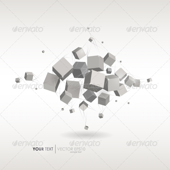 GraphicRiver Abstract Cube Business Technology Abstract Vector 8266733