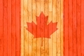 Canada flag wooden background. - PhotoDune Item for Sale
