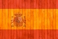 Spain flag wooden background. - PhotoDune Item for Sale