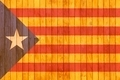 Catalonia independence flag wooden background. - PhotoDune Item for Sale