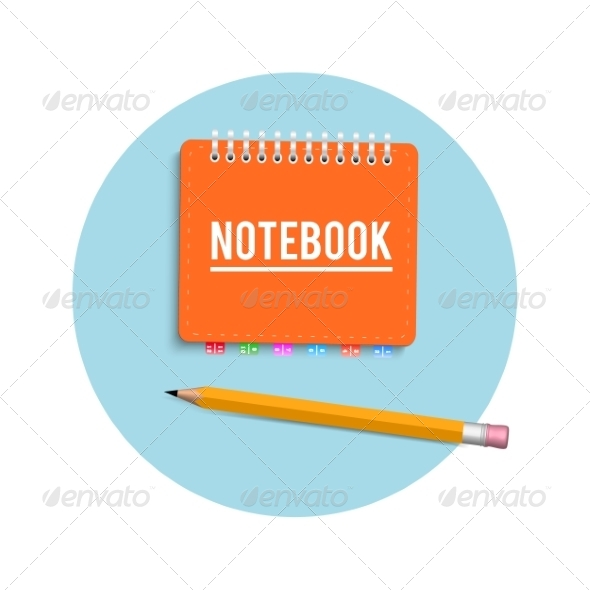 GraphicRiver Notebook and Pencil 8266923
