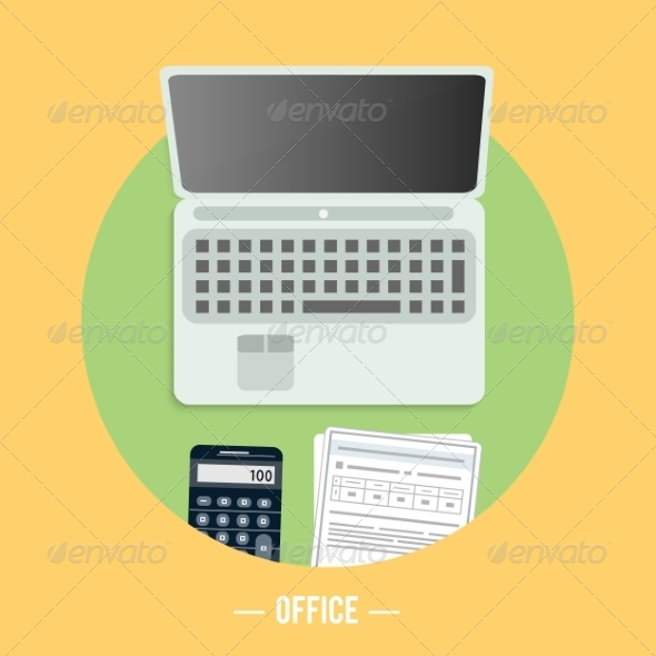 GraphicRiver Office and Marketing Items Icons 8266935