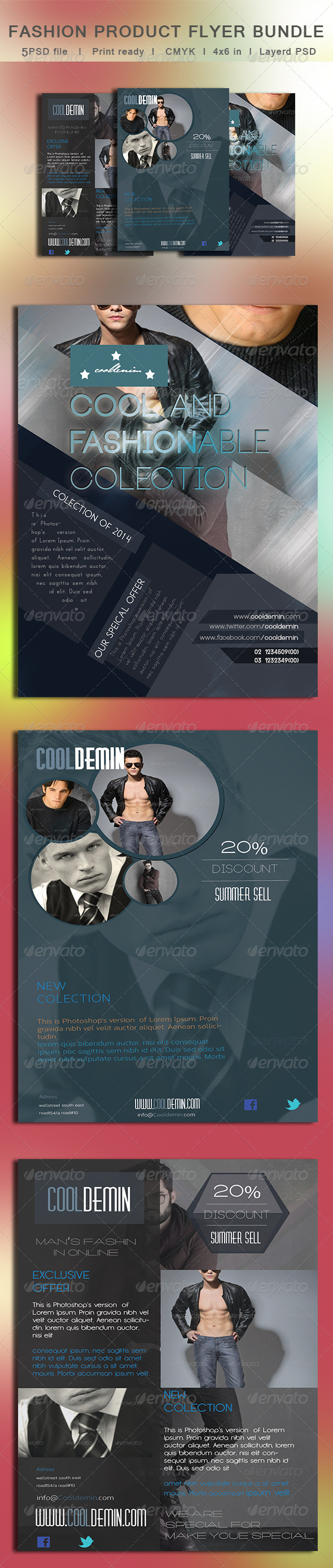 GraphicRiver 3 in 1 Fashion Product Flyer Bundle 8267578