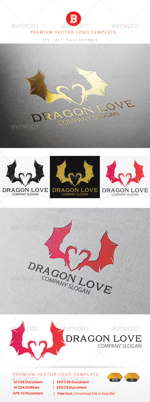 GraphicRiver Dragon Love 8269374