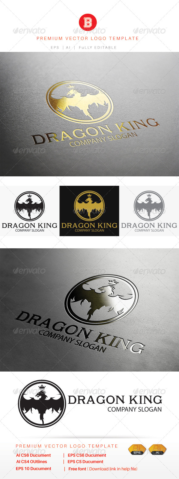 GraphicRiver Dragon King 8269379