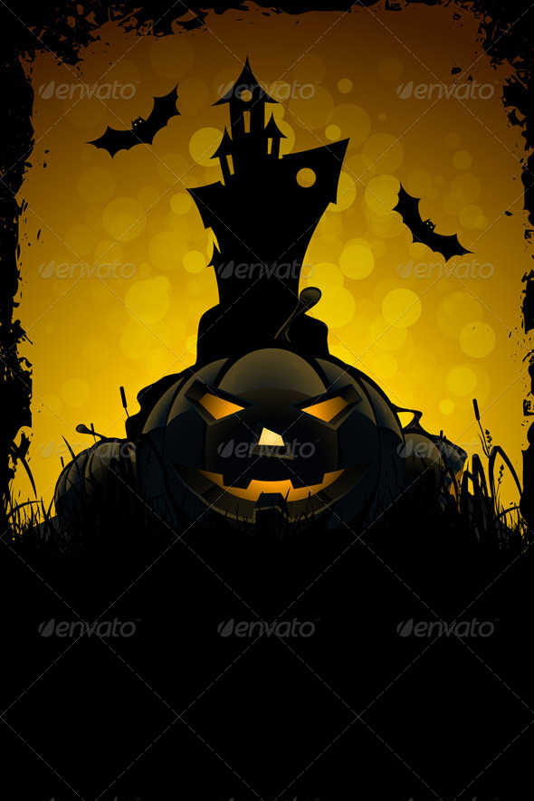 GraphicRiver Halloween Party Card 8269580