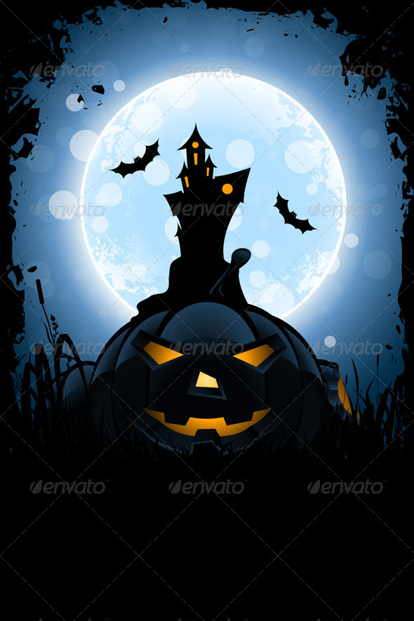 GraphicRiver Grungy Halloween Card 8269585