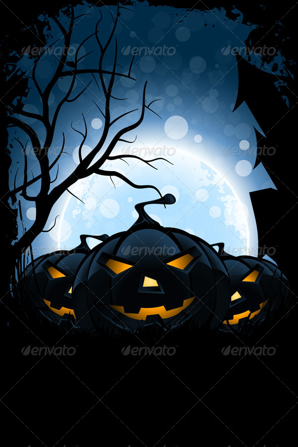 GraphicRiver Grungy Halloween Card 8269596