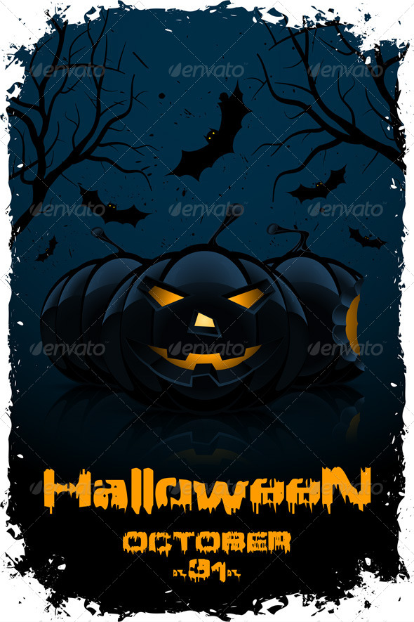 GraphicRiver Grunge Background for Halloween Party 8269601