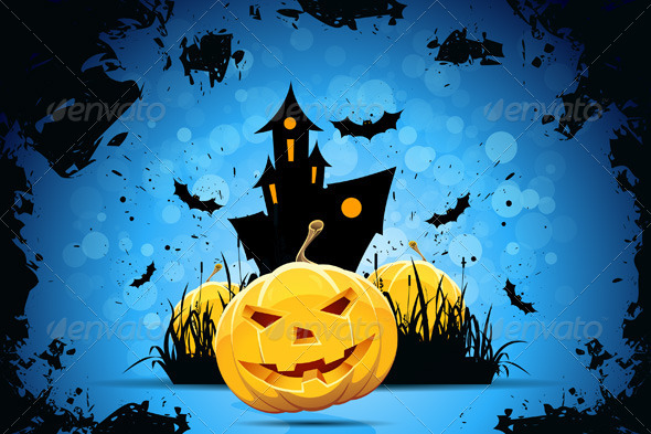 GraphicRiver Grunge Halloween Party Background 8269608