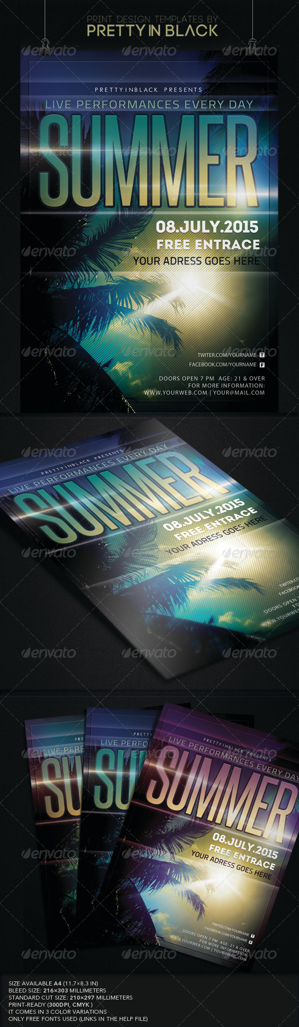GraphicRiver Summer Flyer 8269691