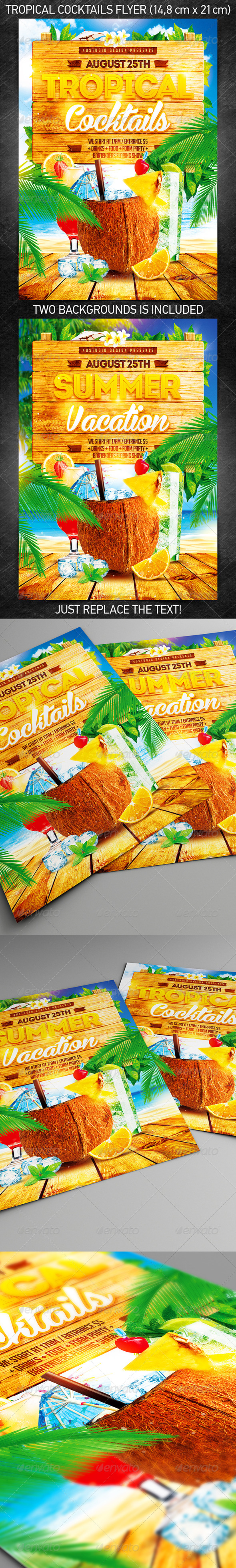 GraphicRiver Tropical Cocktails Party Flyer 8269809