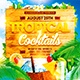 Tropical Cocktails Party Flyer - GraphicRiver Item for Sale