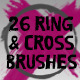 26 Ring and Cross Brushes - GraphicRiver Item for Sale