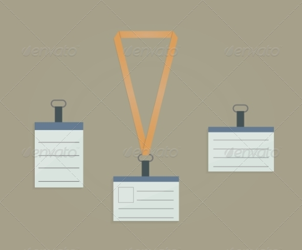 GraphicRiver Retractor Lanyard and Badge 8270012