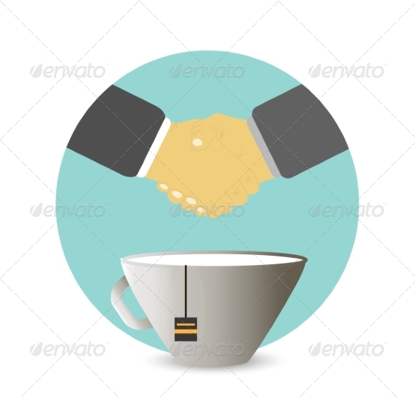 GraphicRiver Handshake Behind a Cup of Tea 8270014