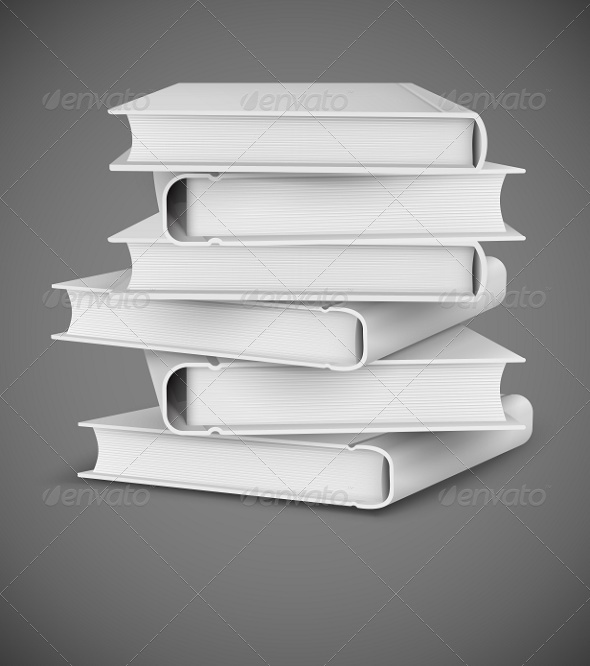 GraphicRiver Big Books Pile 8270184