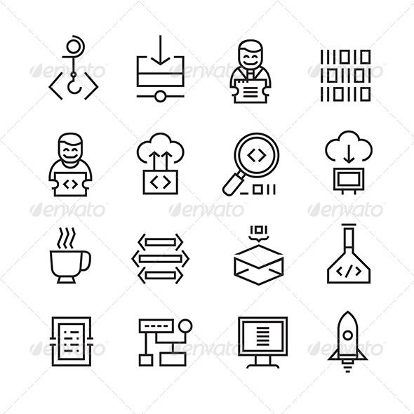 GraphicRiver Web Development and Seo Icons 8270234