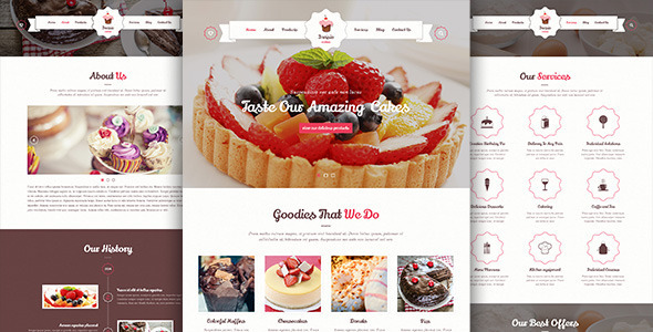 ThemeForest Invisio Cake Sweet PSD Template 8167215