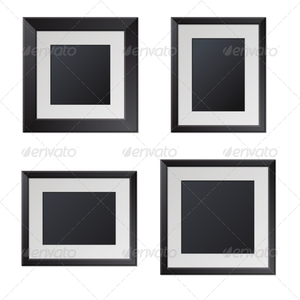 GraphicRiver Realistic Black Picture Frames with Blank Center 8270240