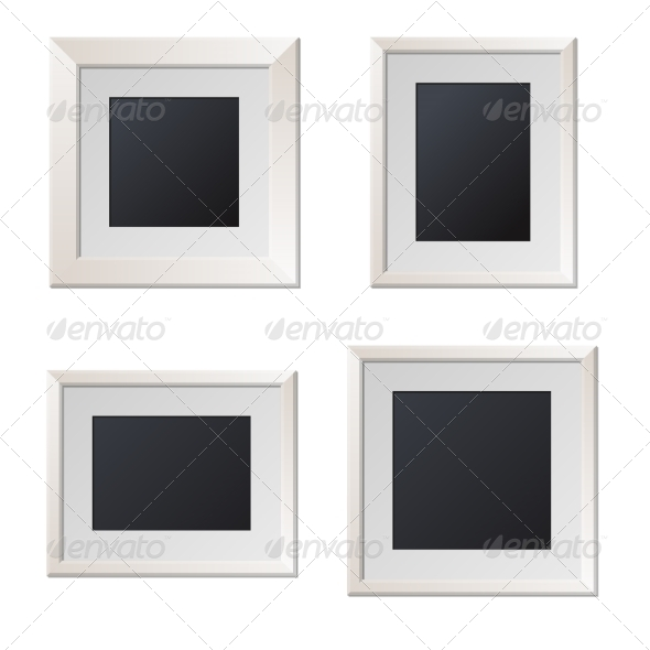 GraphicRiver Realistic White Picture Frames with Blank Center 8270320