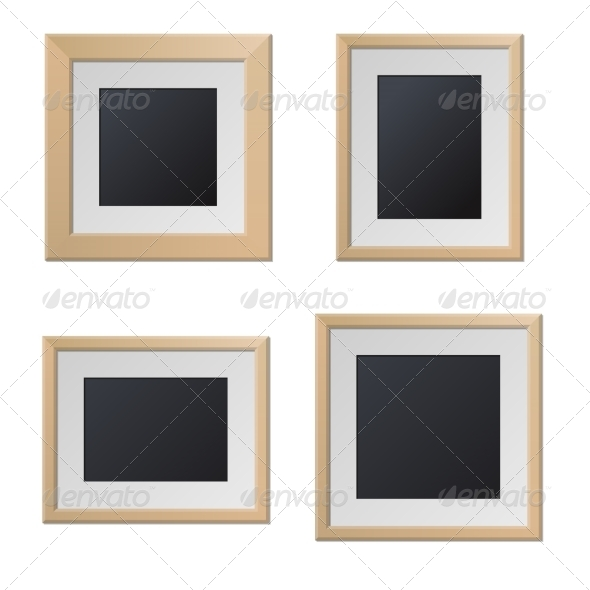 GraphicRiver Realistic Wood Picture Frames with Blank Center 8270395