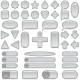 Silver Glass Buttons, Set - GraphicRiver Item for Sale