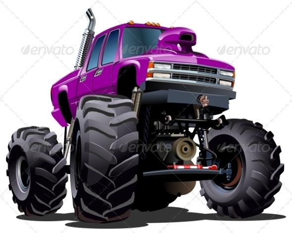 GraphicRiver Cartoon Monster Truck 8271494