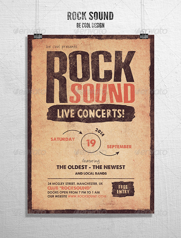GraphicRiver Rock Flyer Poster 8232230