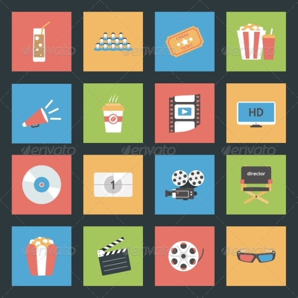 GraphicRiver Popcorn Flat Icon 8271895
