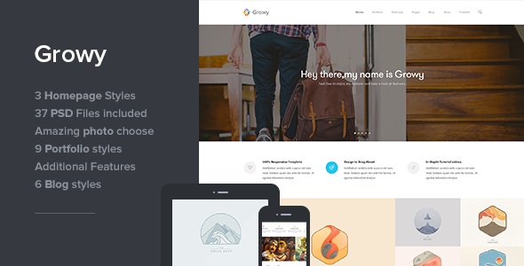 Growy - Multi-Purpose PSD Template - Creative PSD Templates