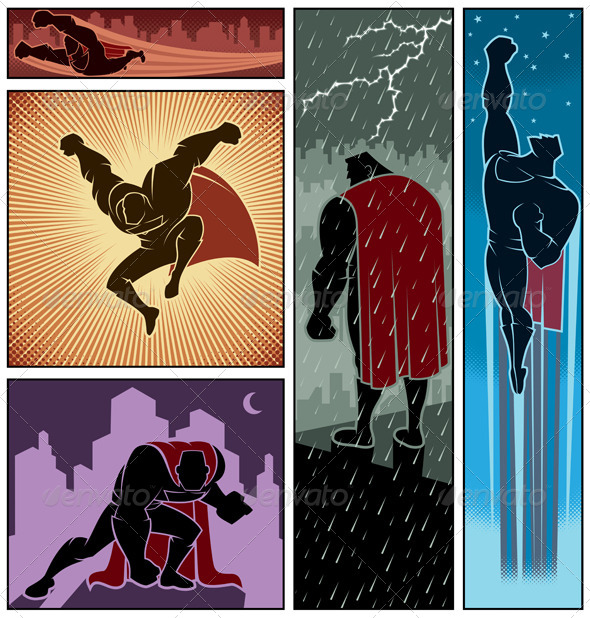GraphicRiver Superhero Banners 3 8271993