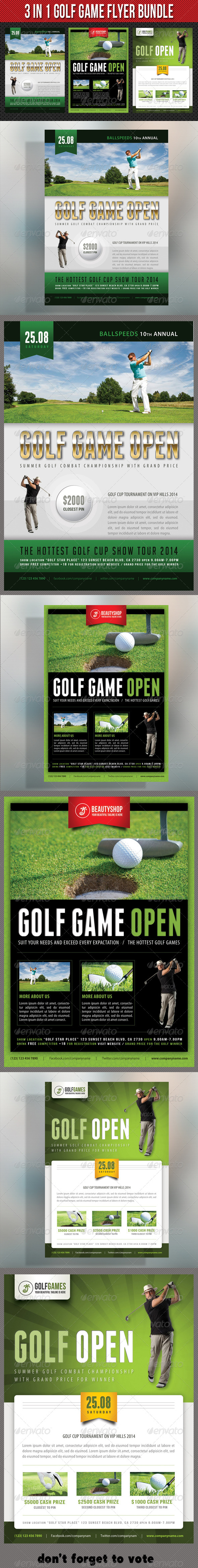3 in 1 Golf Game Flyer Bundle 03