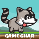 Raccoon Game Character Sprite Sheets - GraphicRiver Item for Sale