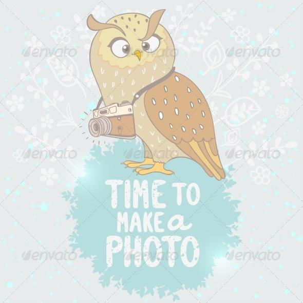 GraphicRiver Owl and Camera 8272221