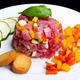 tuna tartar with fresh zucchini and pepper - PhotoDune Item for Sale