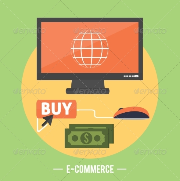 GraphicRiver Ecommerce Infographic Concept of Purchasing 8272470