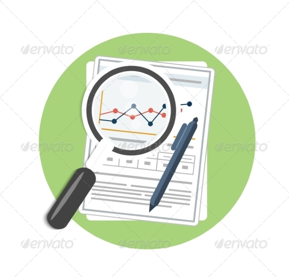GraphicRiver Magnifying Glass and Chart 8272898