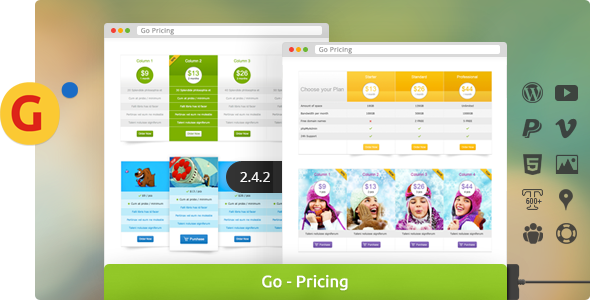 Go - Responsive Pricing & Compare Tables for WP