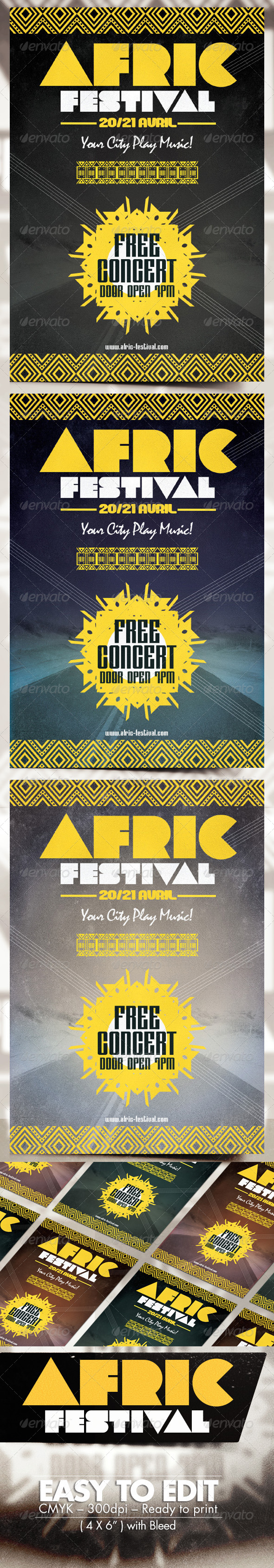 GraphicRiver Africa Festival Flyer 8273495