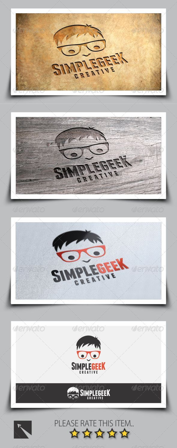 GraphicRiver Simple Geek Logo Template 8273543