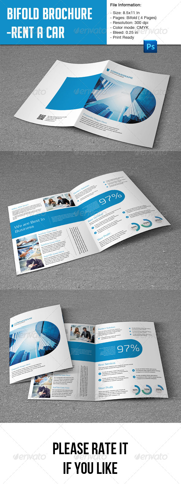 GraphicRiver Flexible Bifold Brochure for Business 8273638